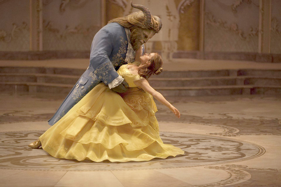 "Emma Watson stars as Belle and Dan Stevens as the Beast in Disney's ""Beauty and the Beast,"" a live-action adaptation of the studio's animated classic. (Walt Disney Studios)"