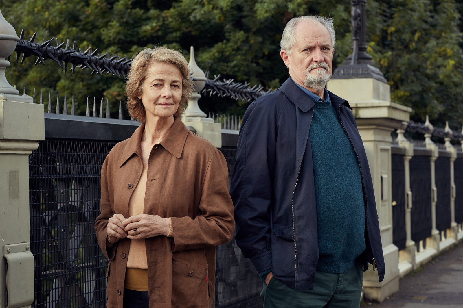 "Jim Broadbent and Charlotte Rampling in ""The Sense of an Ending."" (Robert Viglasky, CBS Films)"