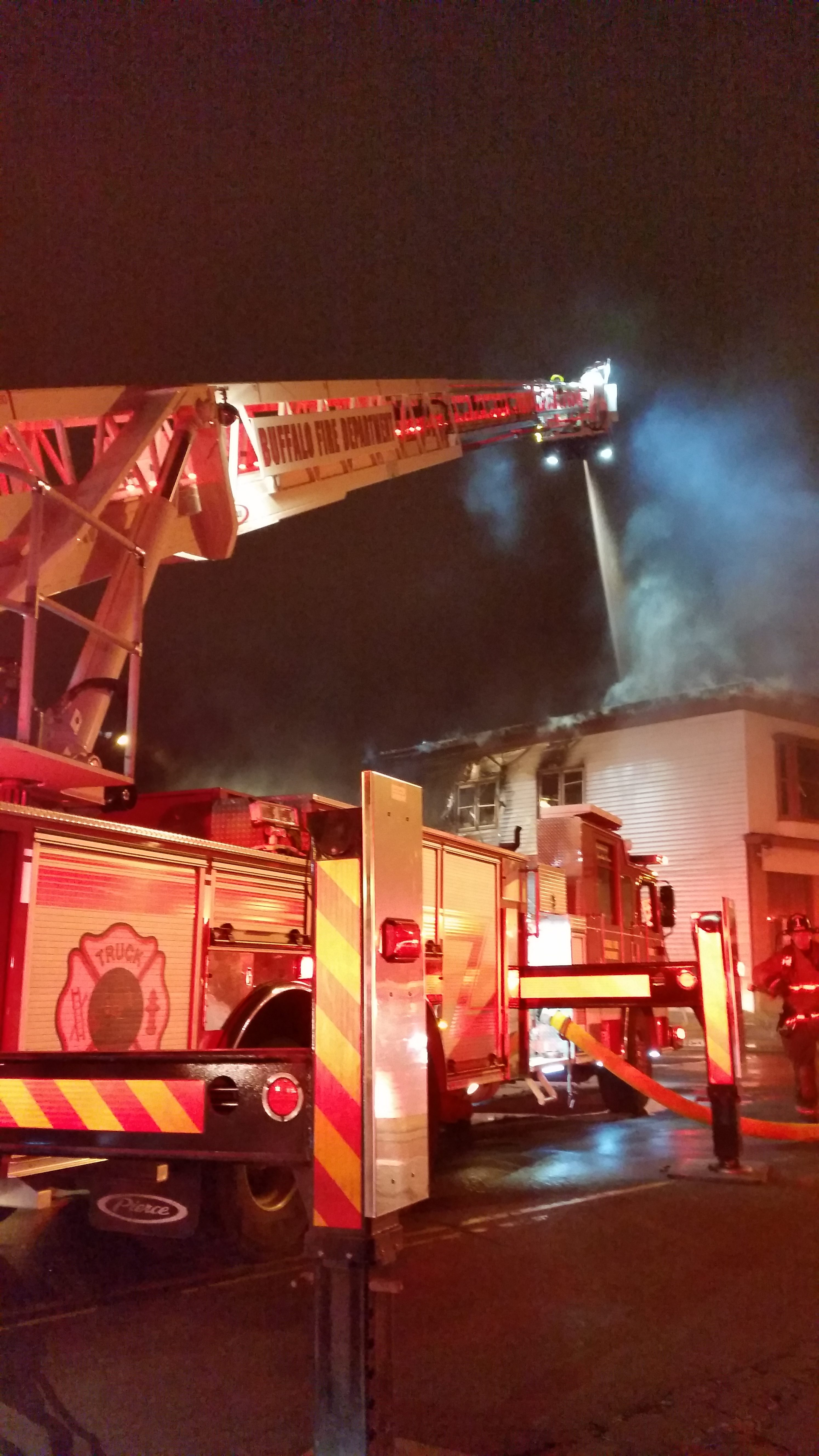 The cause of a fire on E. Ferry Street early Wednesday was under investigation. (David F. Kazmierczak/Special to The News)