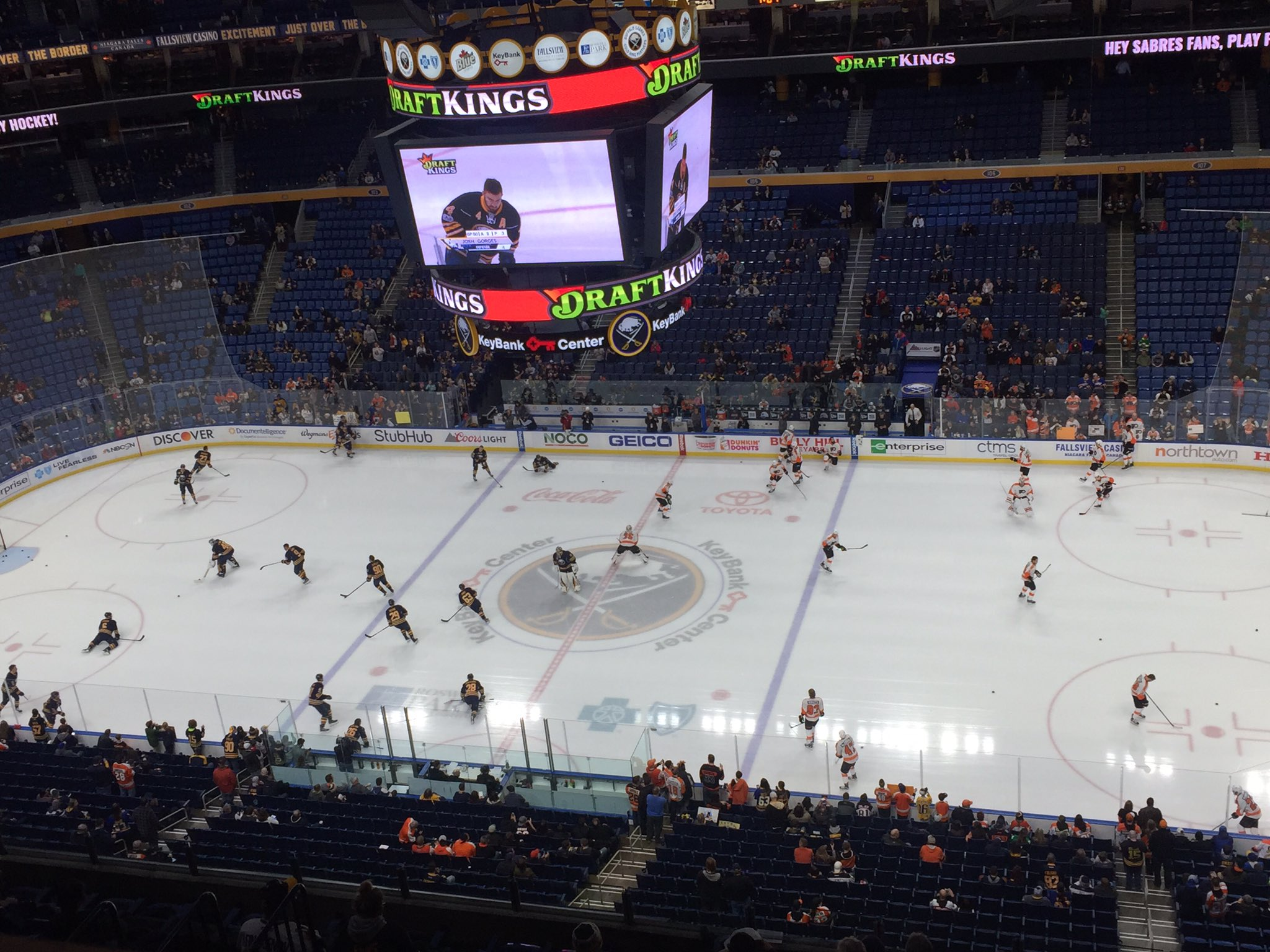 The Sabres face the Flyers tonight at home. (Mike Harrington/Buffalo News)