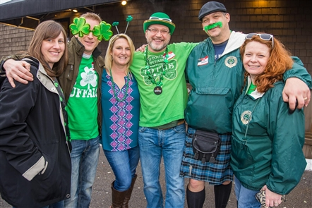 Smiles at St. Patrick's Day at the Ebenezer Ale House