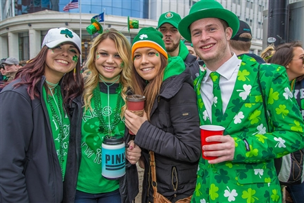 Smiles at the St. Patrick's Day Parade