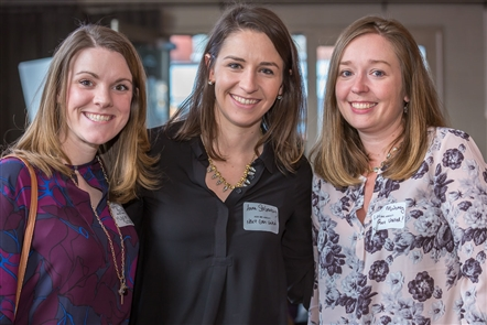 Smiles at Millennial Mixer and Spring It On in Big Ditch