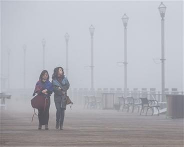 Dense fog blankets Buffalo