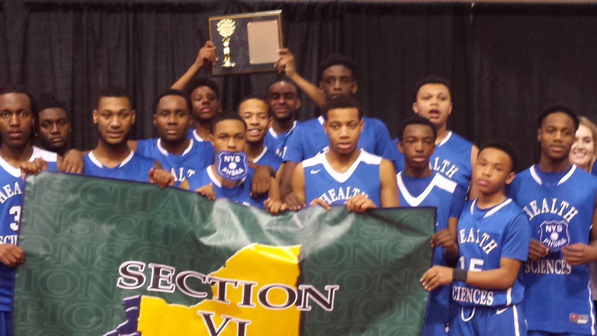 Health Sciences earned the right to hoist the championship plaque during a banner day at the Section VI Tournament.