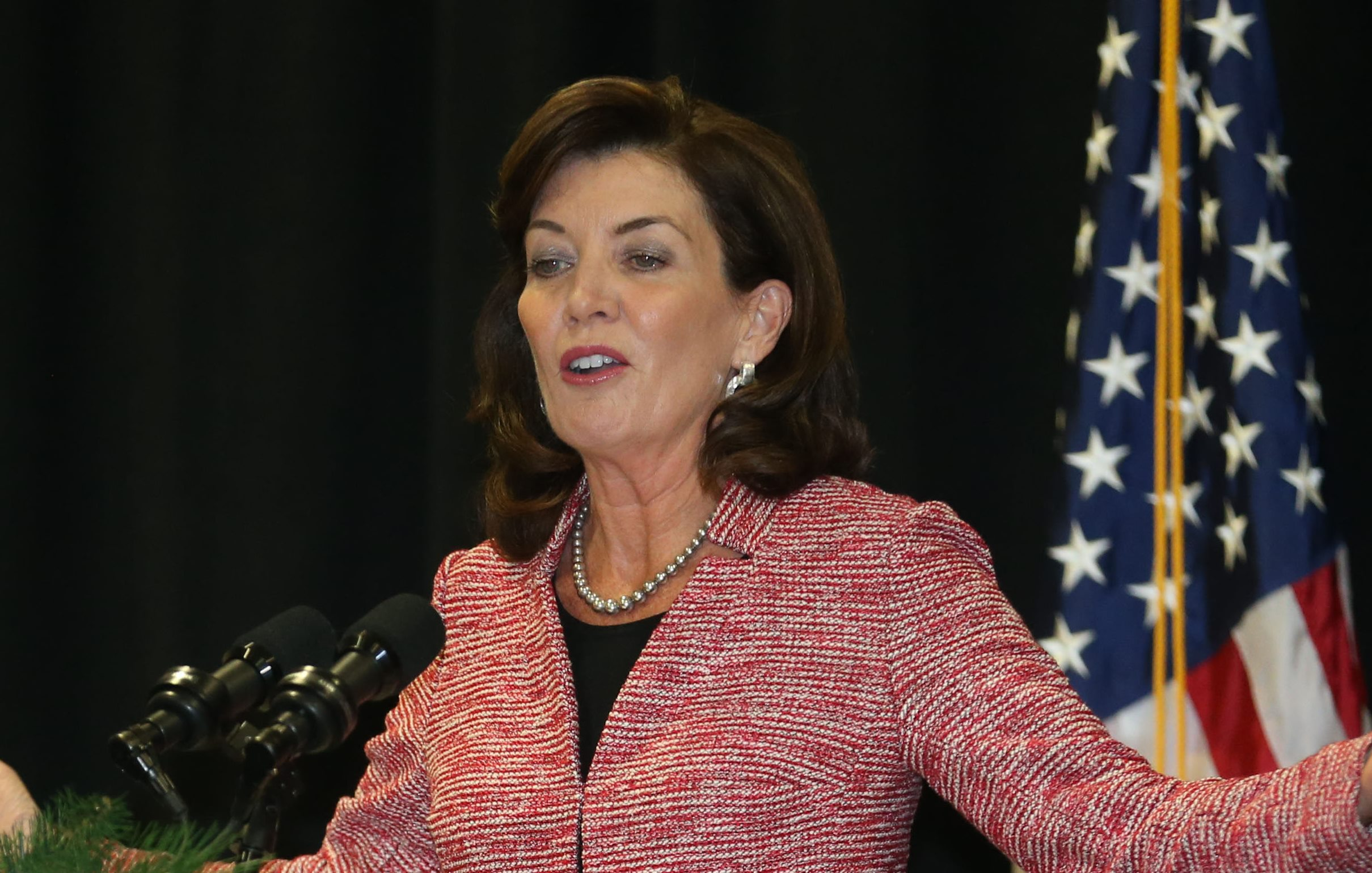 """SHARE TWEET EMAIL WASHINGTON – Lt. Gov. Kathy Hochul traveled to the Capitol on Wednesday to meet with New York State's House delegation – and to warn lawmakers about the dangers she sees the state facing if the Affordable Care Act is replaced with a proposal from House Republicans. """"New York State will be one of the hardest-hit states in the nation,"""" Kathy Hochul said after meeting with lawmakers Wednesday. (Sharon Cantillon/Buffalo News file photo)"""