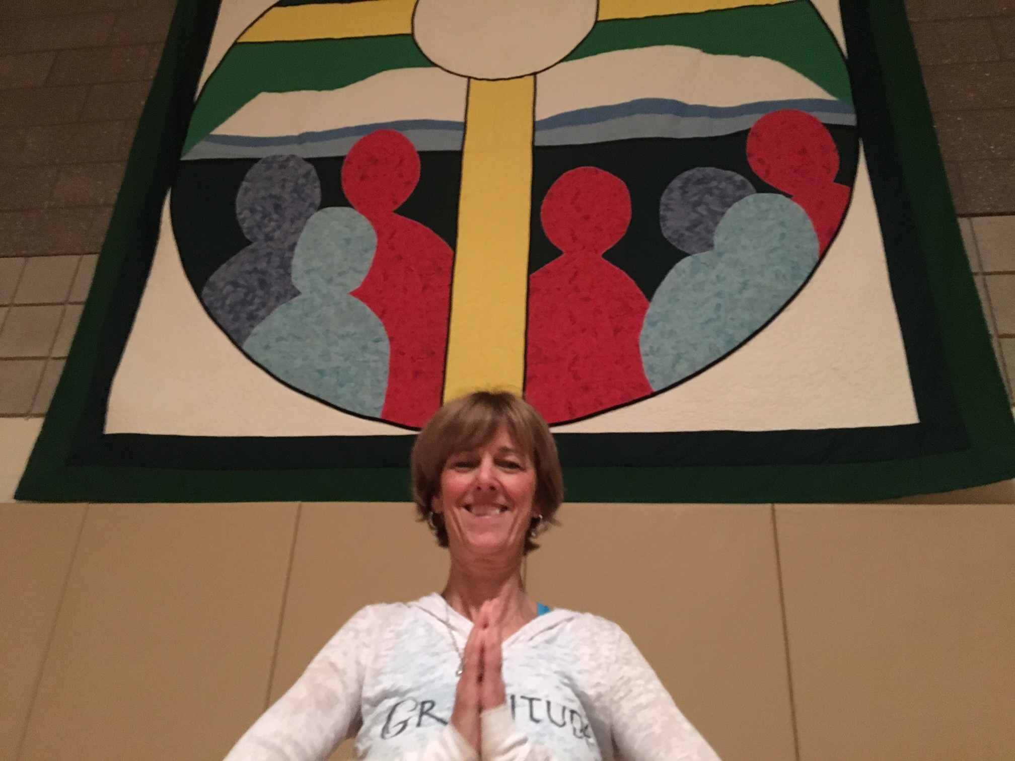 """The reflection and the meditation (in yoga) drew me toward a deeper connection to my faith,"" St. Mary's yoga class instructor Jane Schmitt says."