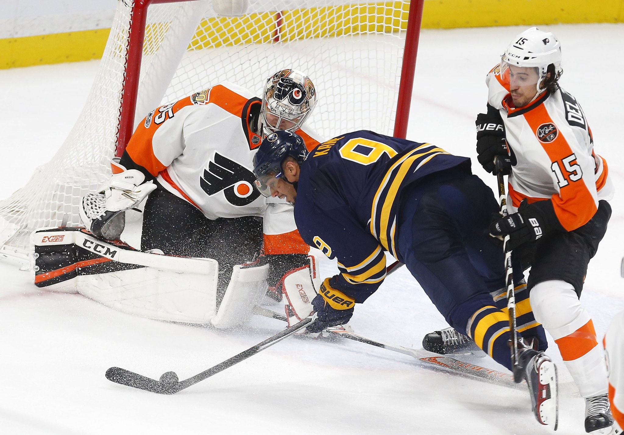 Despite a goal-scoring run by Evander Kane, the Sabres are falling fast. (Mark Mulville/Buffalo News)