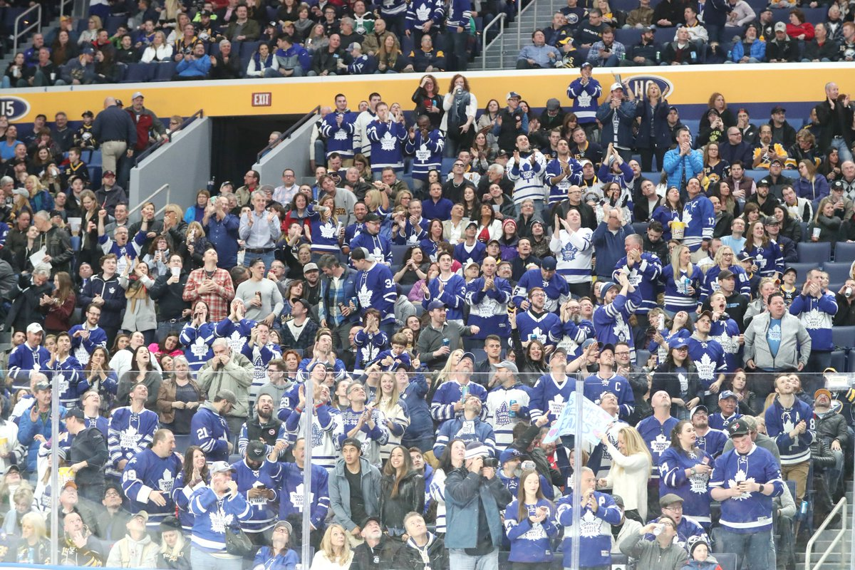 Toronto fans were all over KeyBank Center Saturday night (James P. McCoy/Buffalo News).