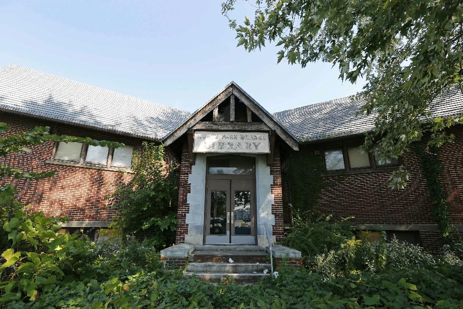 The former North Park Library at Delaware and Hertel avenues is now a city landmark, and could soon be redeveloped. (Derek Gee/News file photo)
