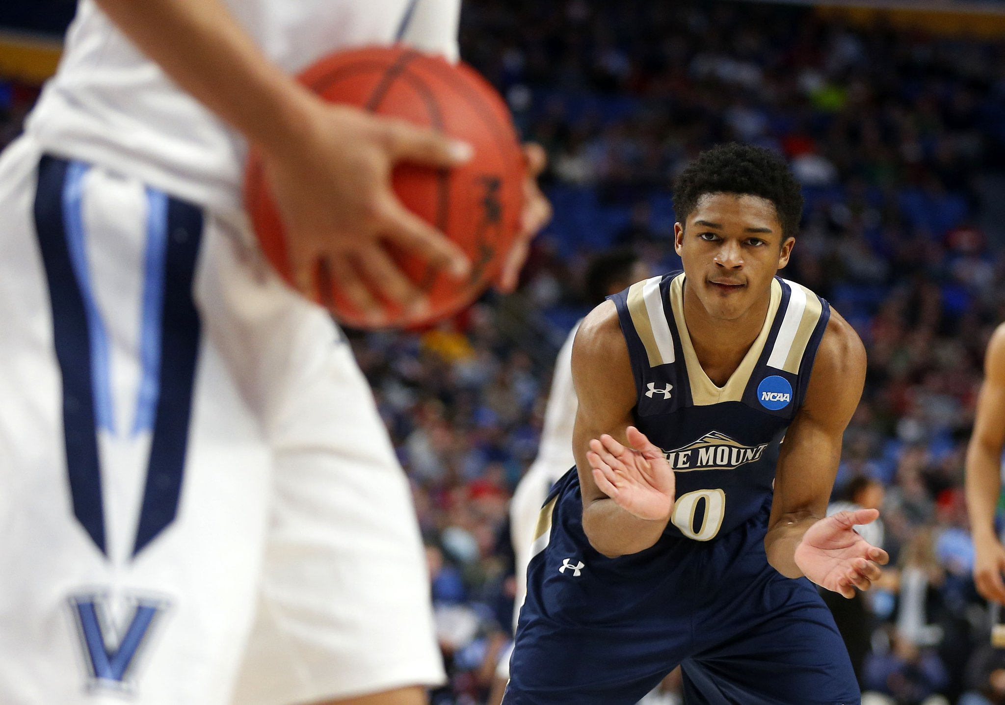 Junior Robinson and Mount St. Mary's couldn't upset top-ranked Villanova. (Mark Mulville/Buffalo News)
