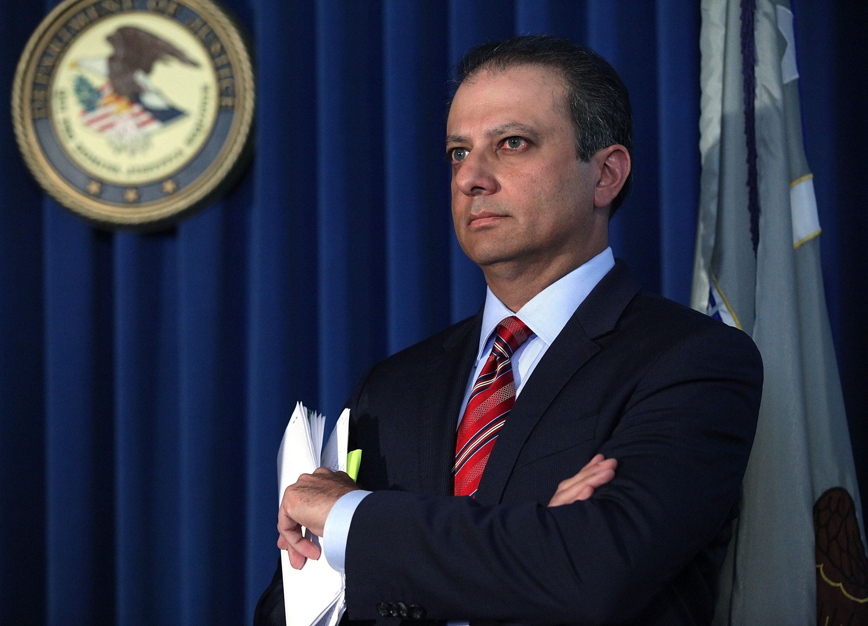 "Sen. Charles E. Schumer said he was ""troubled"" by Preet Bharara's removal, especially after Trump as president-elect initiated a November call to assure him the prosecutor would be retained. (Getty Images)"