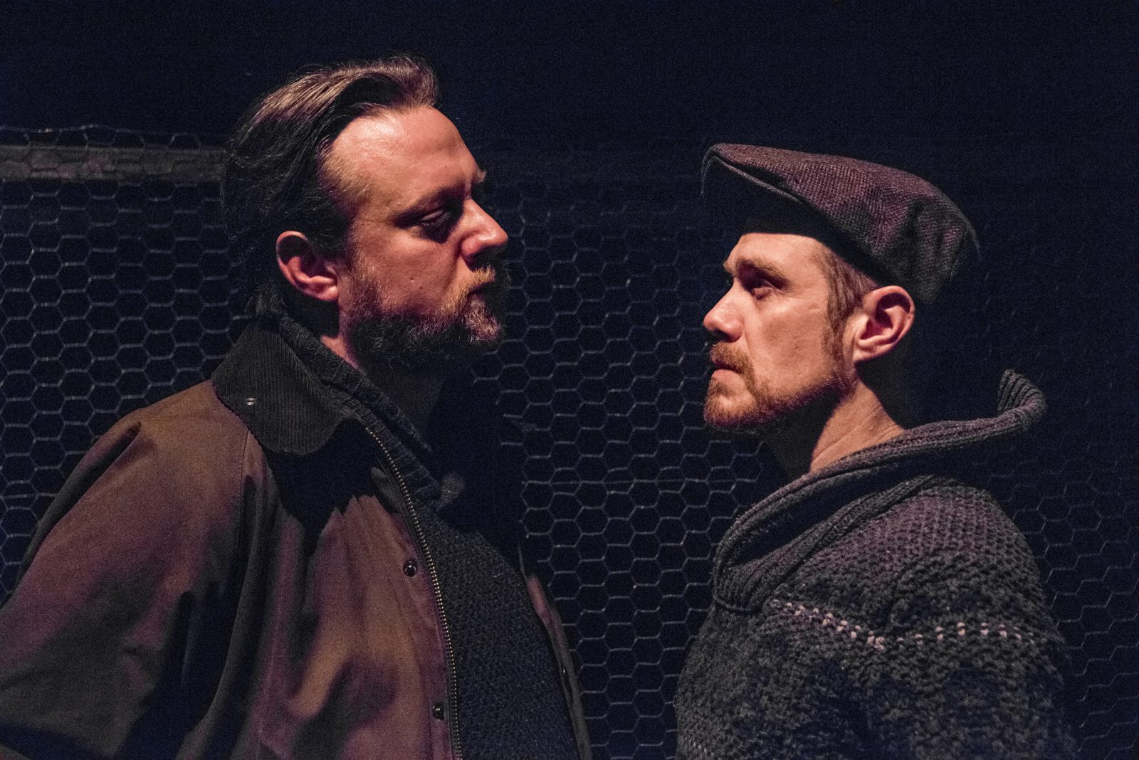 Eric Rawski, left, and Chris Kelly star in the Irish Classical Theatre Company's production of Bryan Delaney's play 'The Seedbed.'