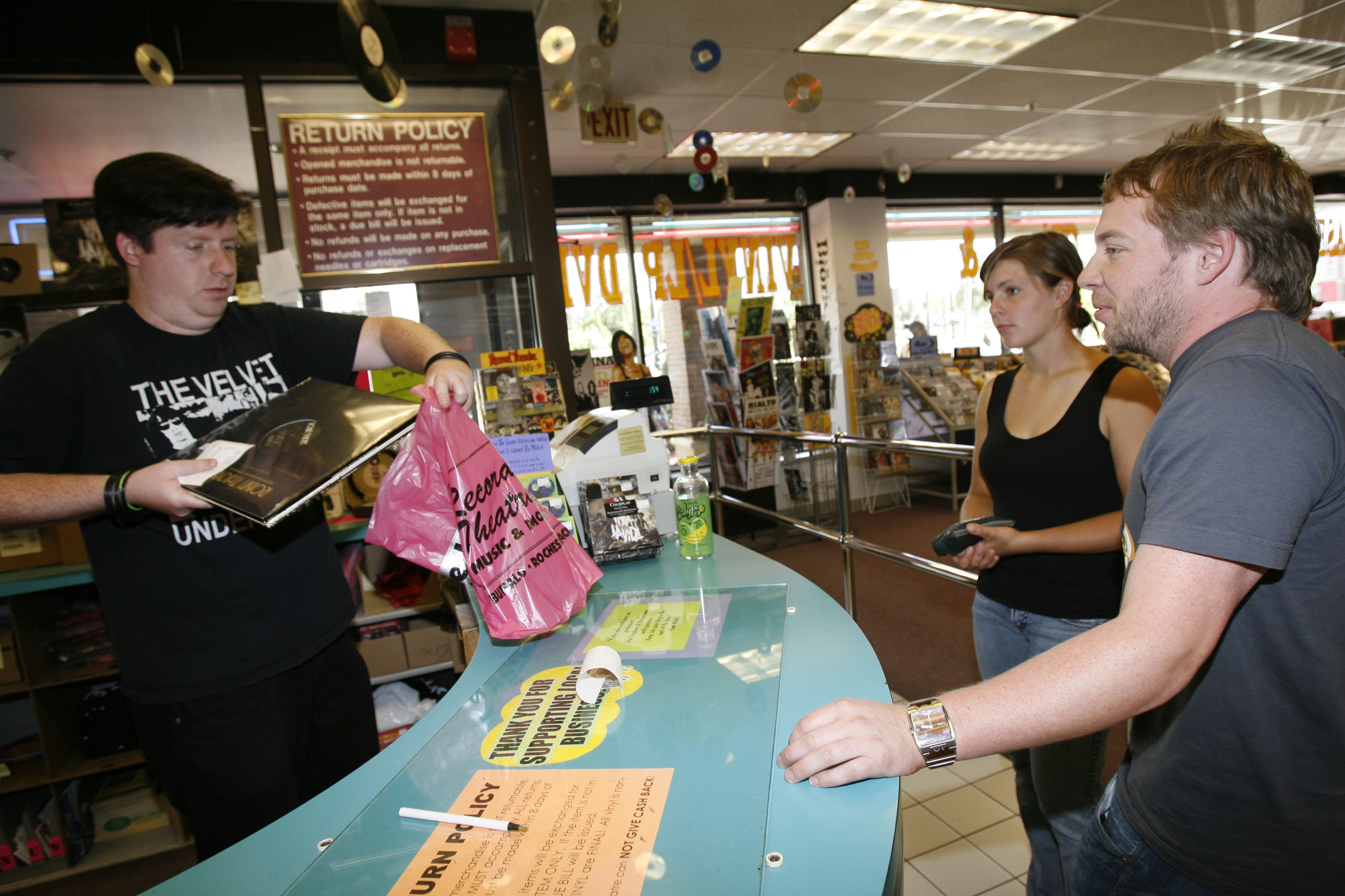 Transcontinent Record Sales has announced that it will close the store in the University Plaza on Main Street in Amherst on March 26. (Sharon Cantillon/News file photo)