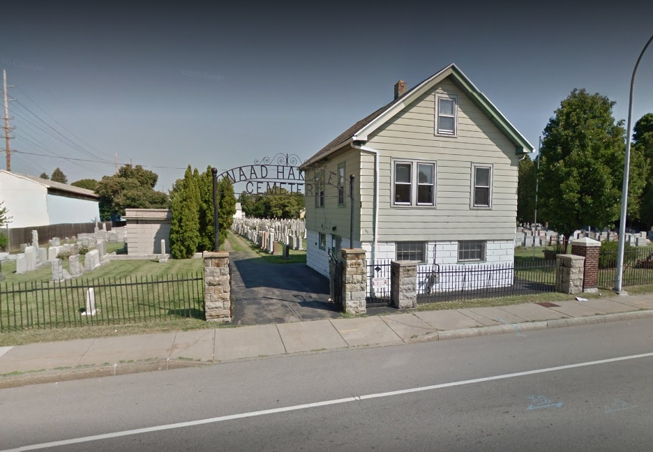 Waad Hakolel Cemetery in Rochester was vandalized this week, according to the Rochester Democrat and Chronicle. (Google Streetview)