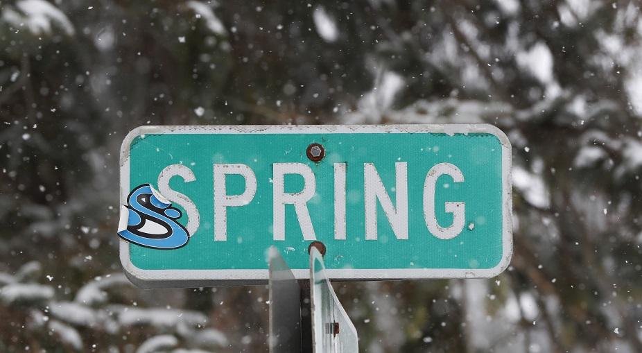 Snow fell last week on Spring Street in Springville. (Harry Scull Jr./Buffalo News)