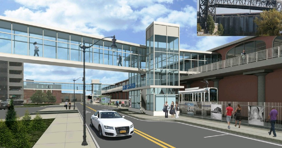 An artist's rendering of the DL&W terminal.