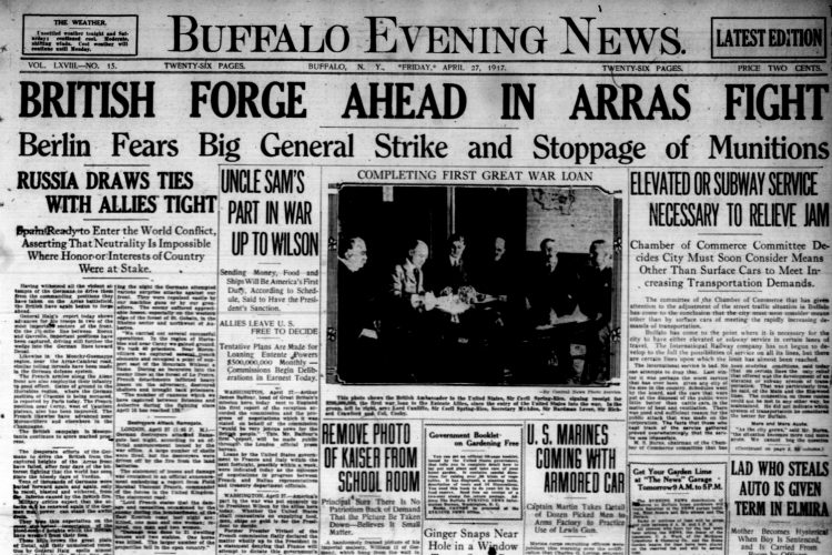 Front page, April 27, 1917: Boysarrested for stealing boxes of cookies from grocer's window