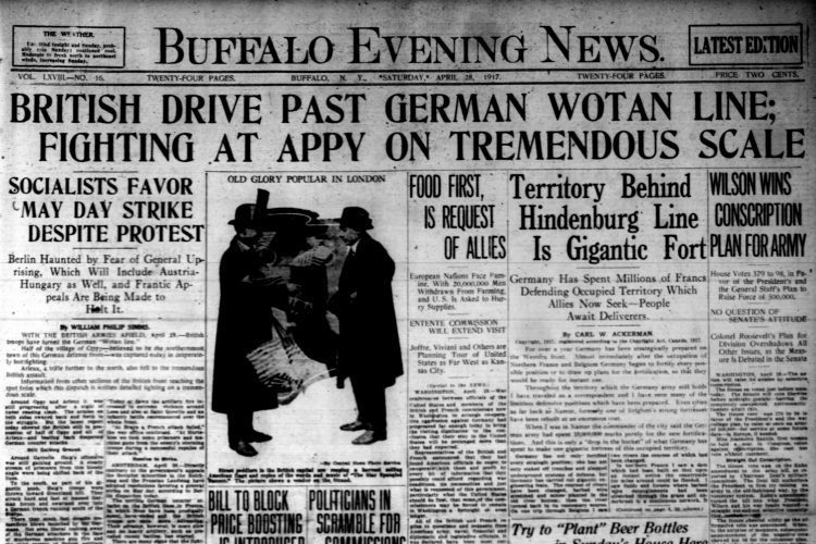 Front page, April 28, 1917: Linwood Avenue residents perplexed by beer bottles on front lawn