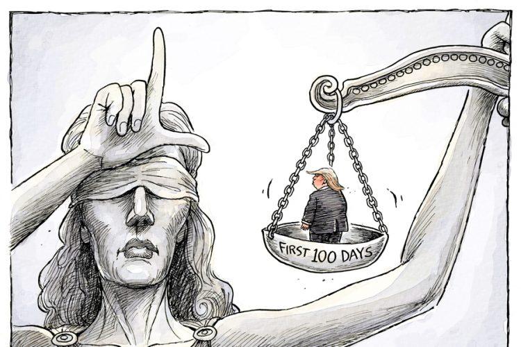 Adam Zyglis: Trump 100 days