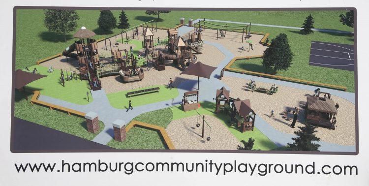 The Hamburg Community Playground will be built April 28 and 29 and May 5 and 6. (Sharon Cantillon/Buffalo News)