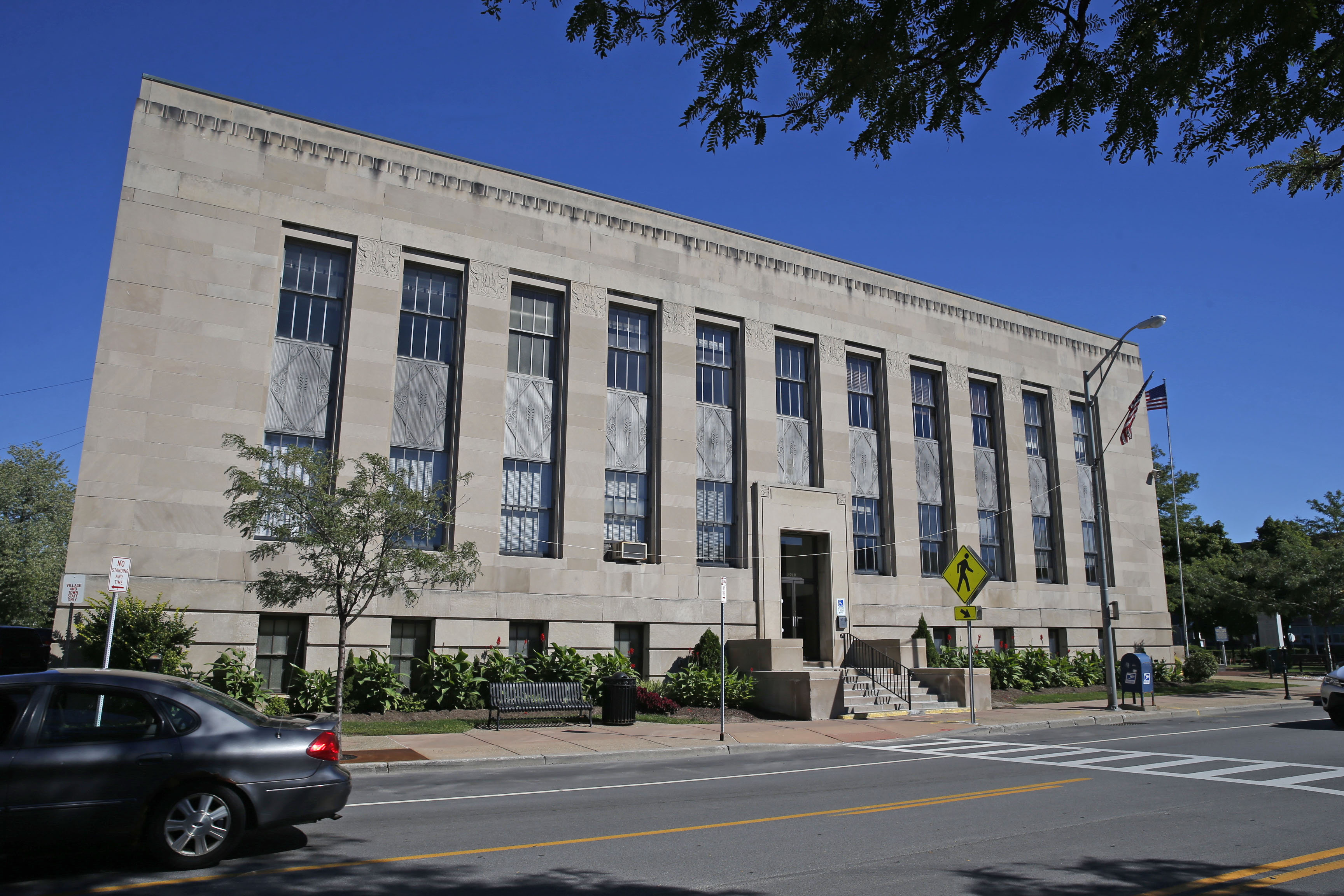 The Ken-Ton Municipal Building on Delaware Avenue in the Village of Kenmore was built in 1936. This was on Monday, Sept. 12, 2016.  (Robert Kirkham/Buffalo News)