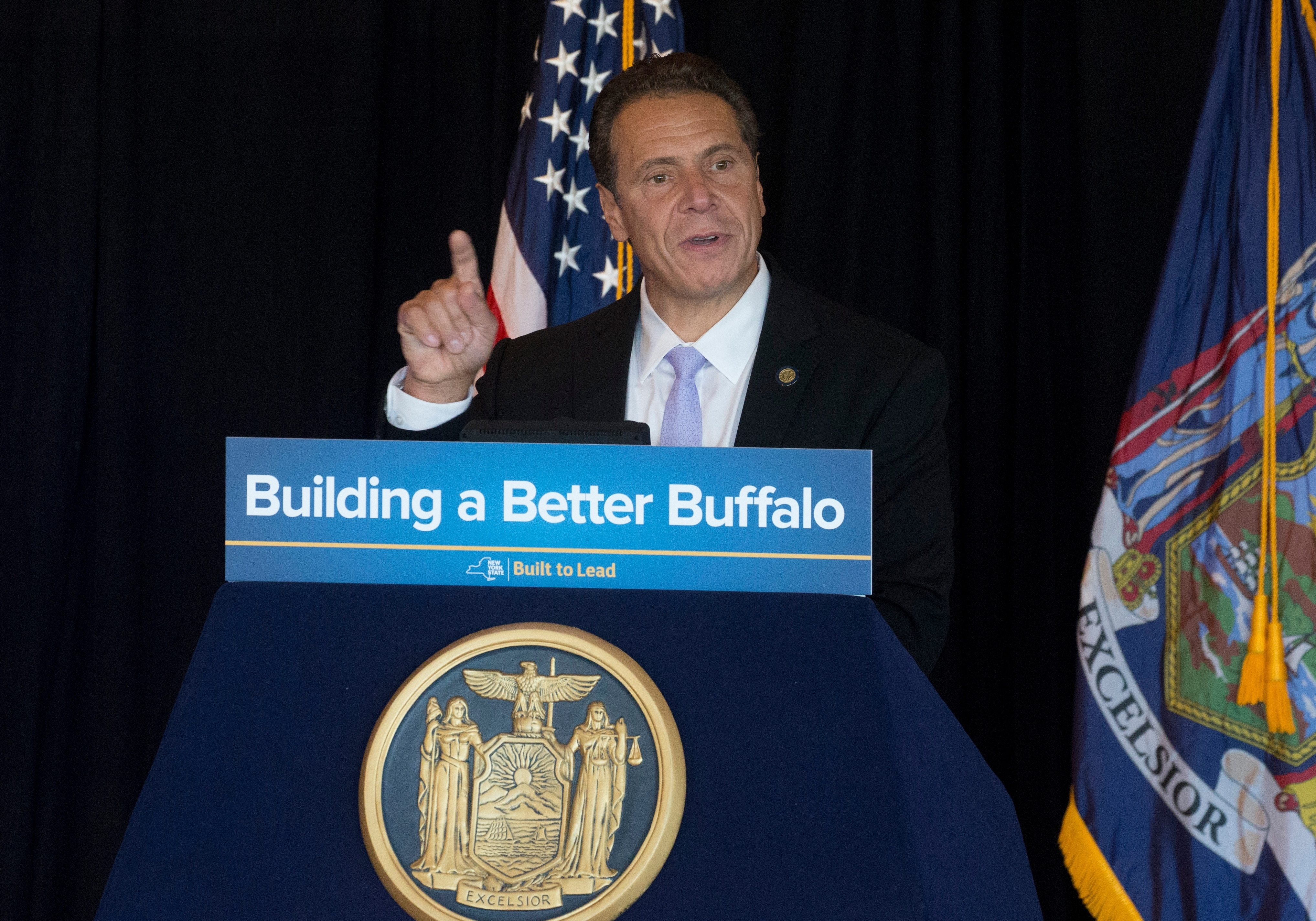 Gov. Cuomo said the budget extender includes funding for the Buffalo Billion II economic development program. (John Hickey/Buffalo News)