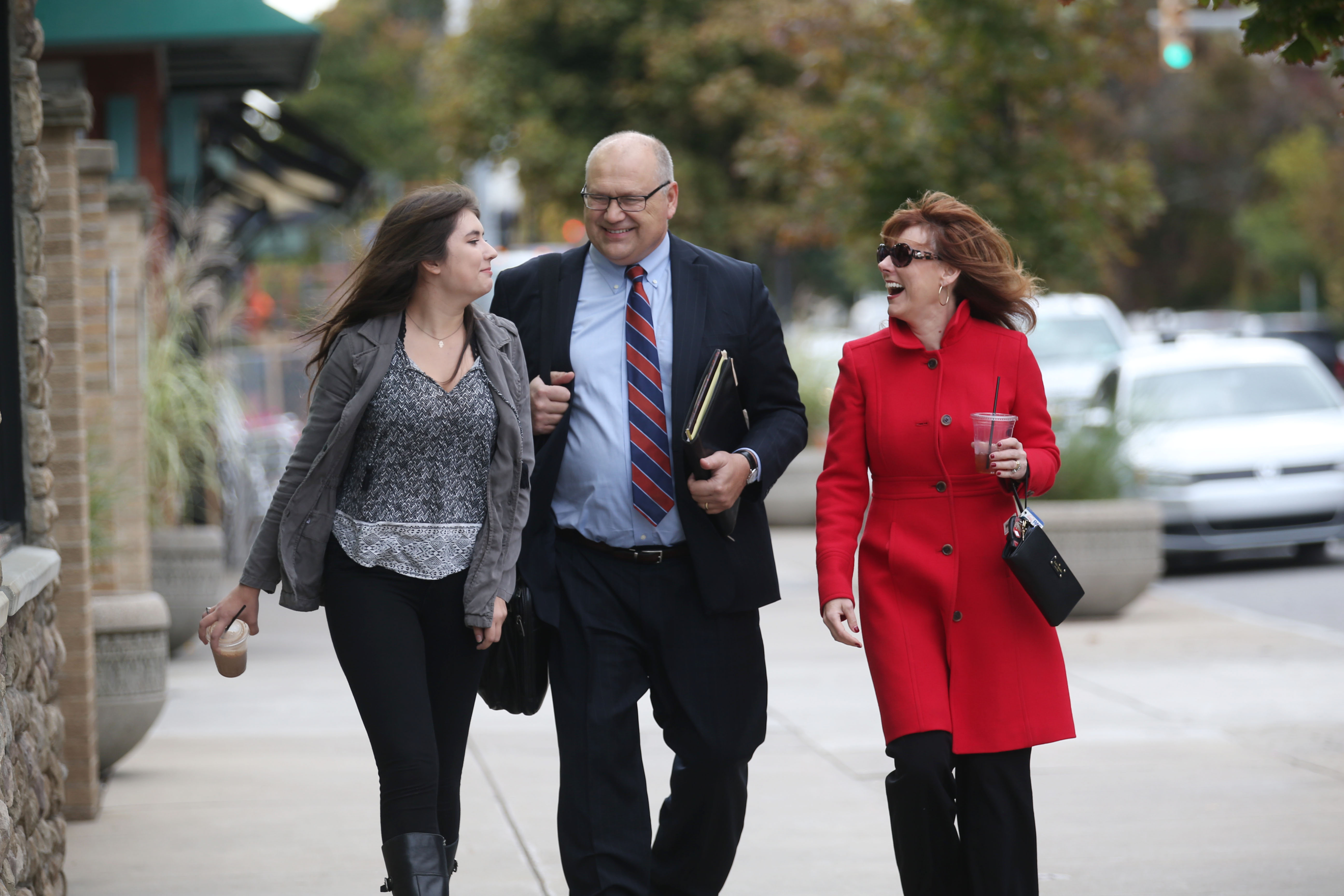 Buffalo attorney Dan Lukasik, flanked by his daughter, Iliana, and wife, Kelsey, is among those in Western New York with depression. Find a link to his story below.  (Sharon Cantillon/Buffalo News file photo)