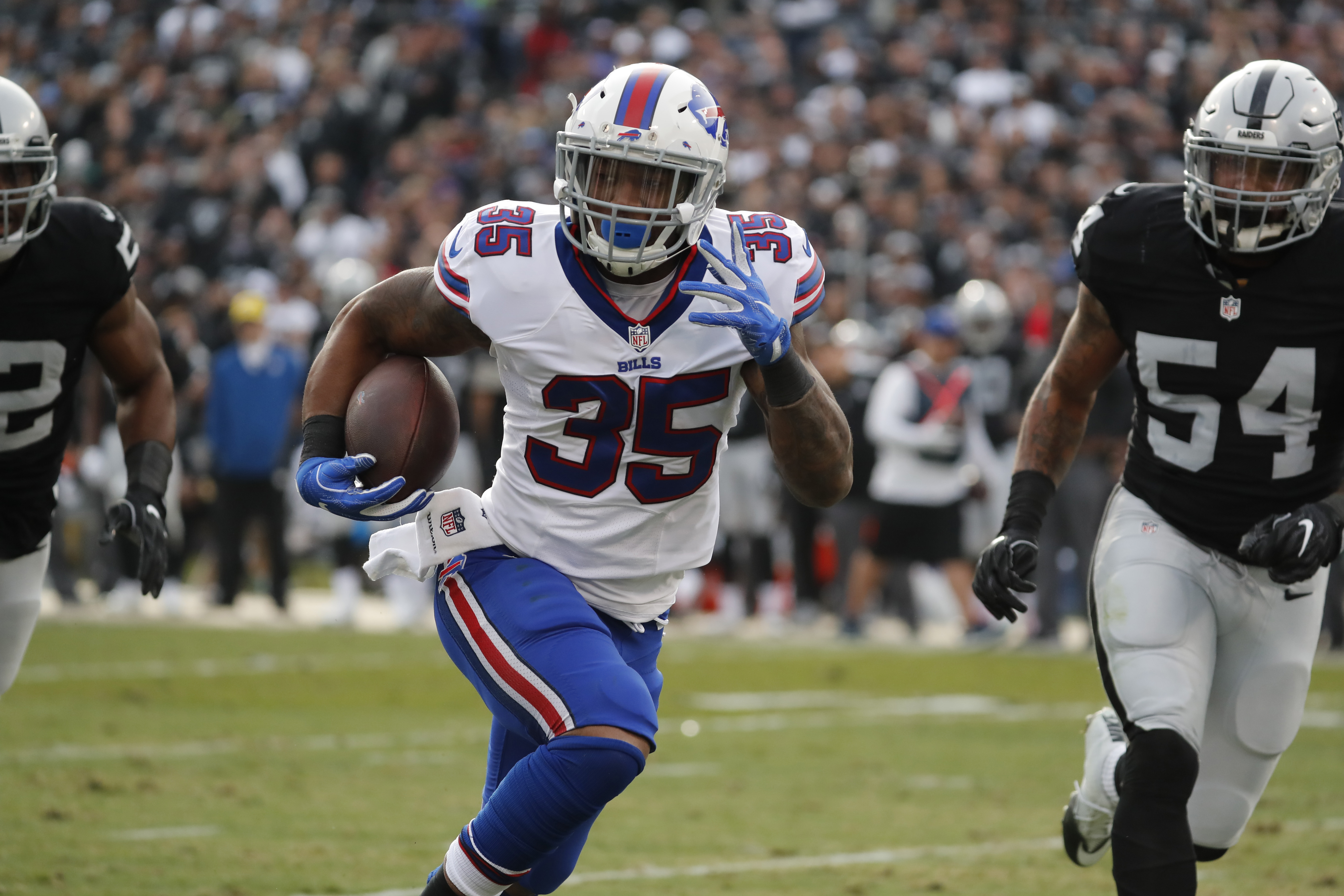 The loss of Mike Gillislee is one of the reasons Football Outsiders editor Aaron Schatz expects the Bills to be measurably worse in 2017. (Harry Scull Jr./Buffalo News)