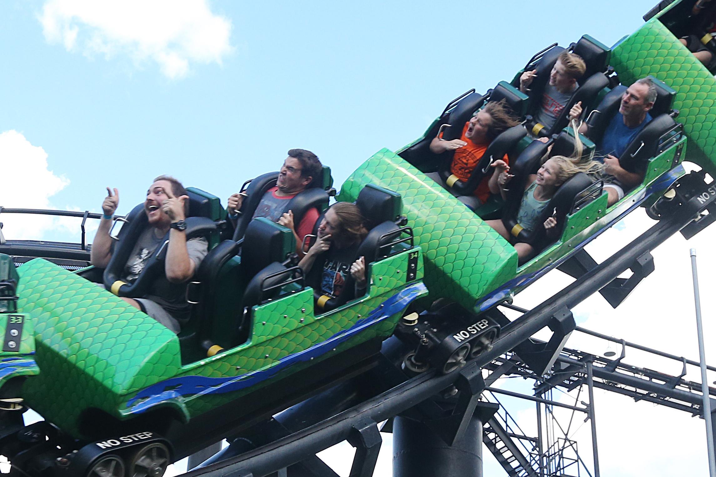 Riders enjoy the Viper at Darien Lake theme park. (Sharon Cantillon/Buffalo News file photo)