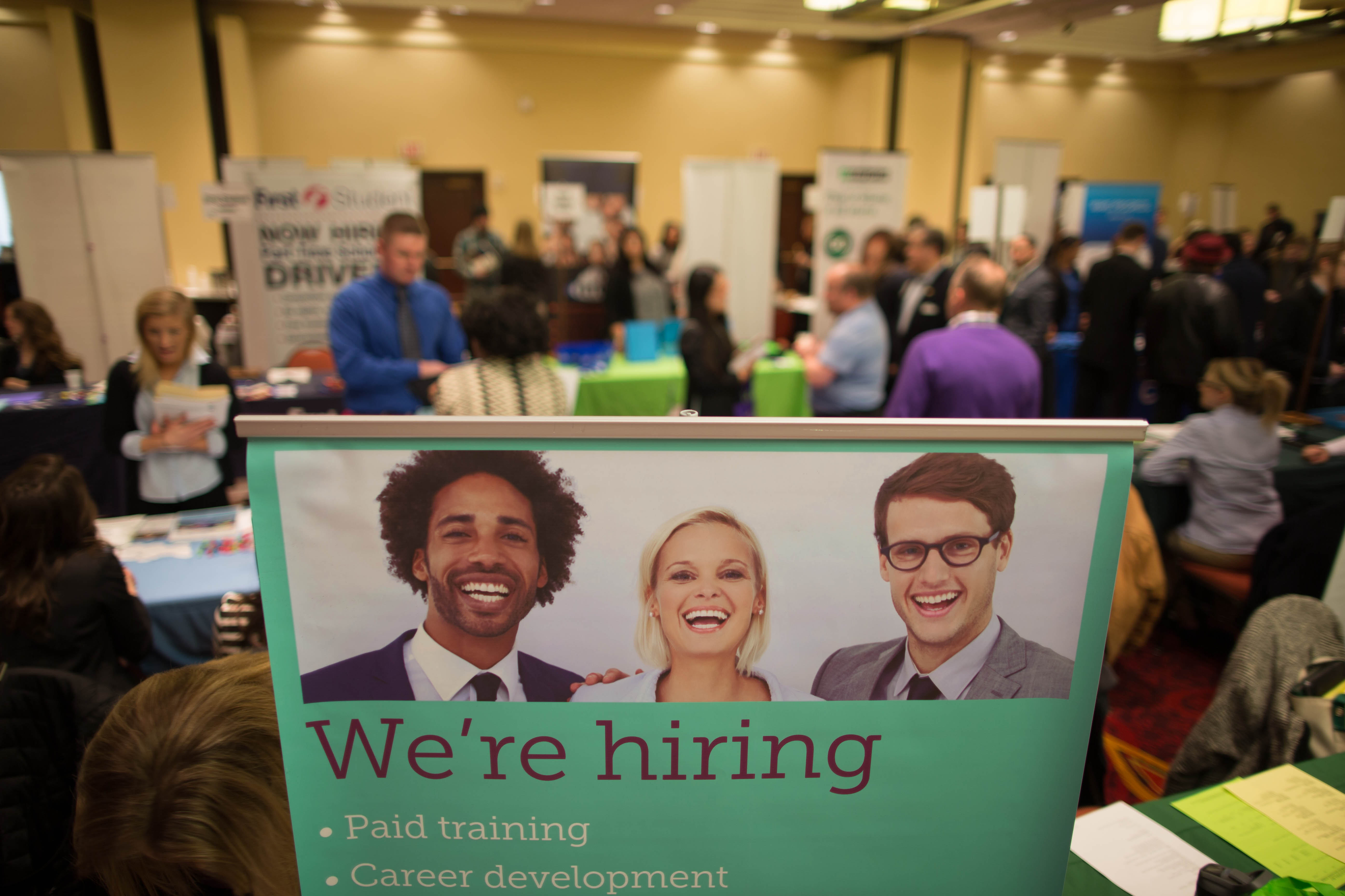 The pace of hiring picked up during January, according to the state Labor Department. (Derek Gee/News file photo)