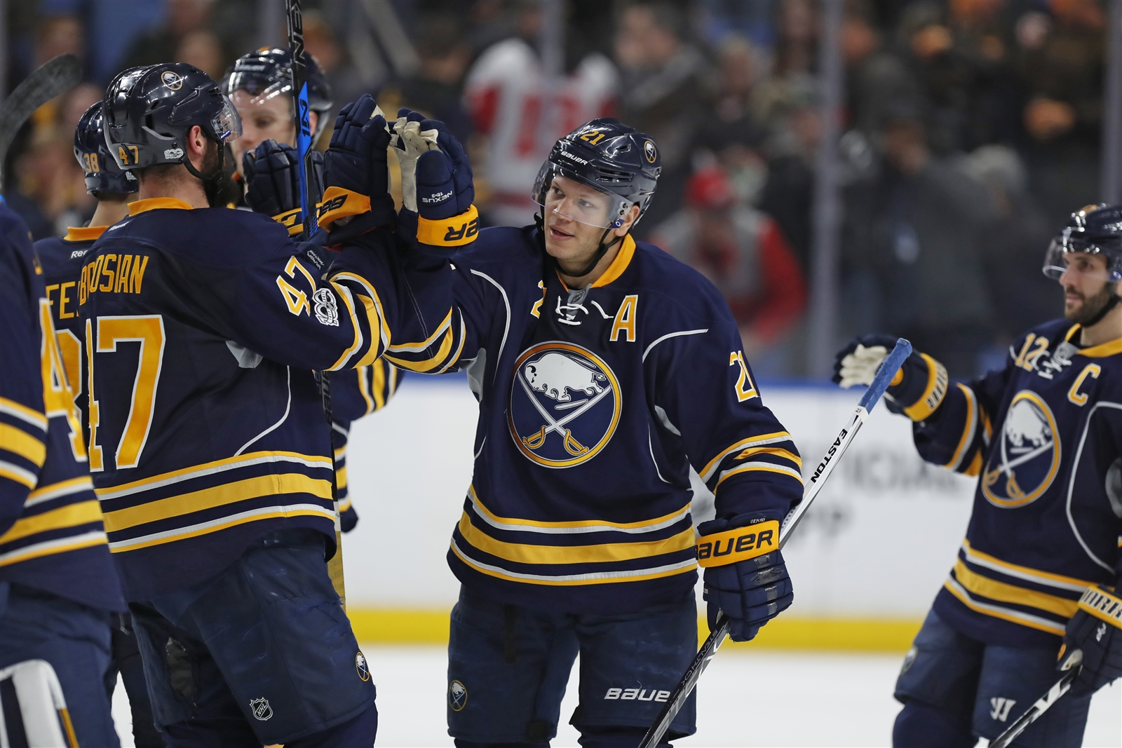 Kyle Okposo wasted no time becoming a leader on the Sabres. (Harry Scull Jr./Buffalo News)