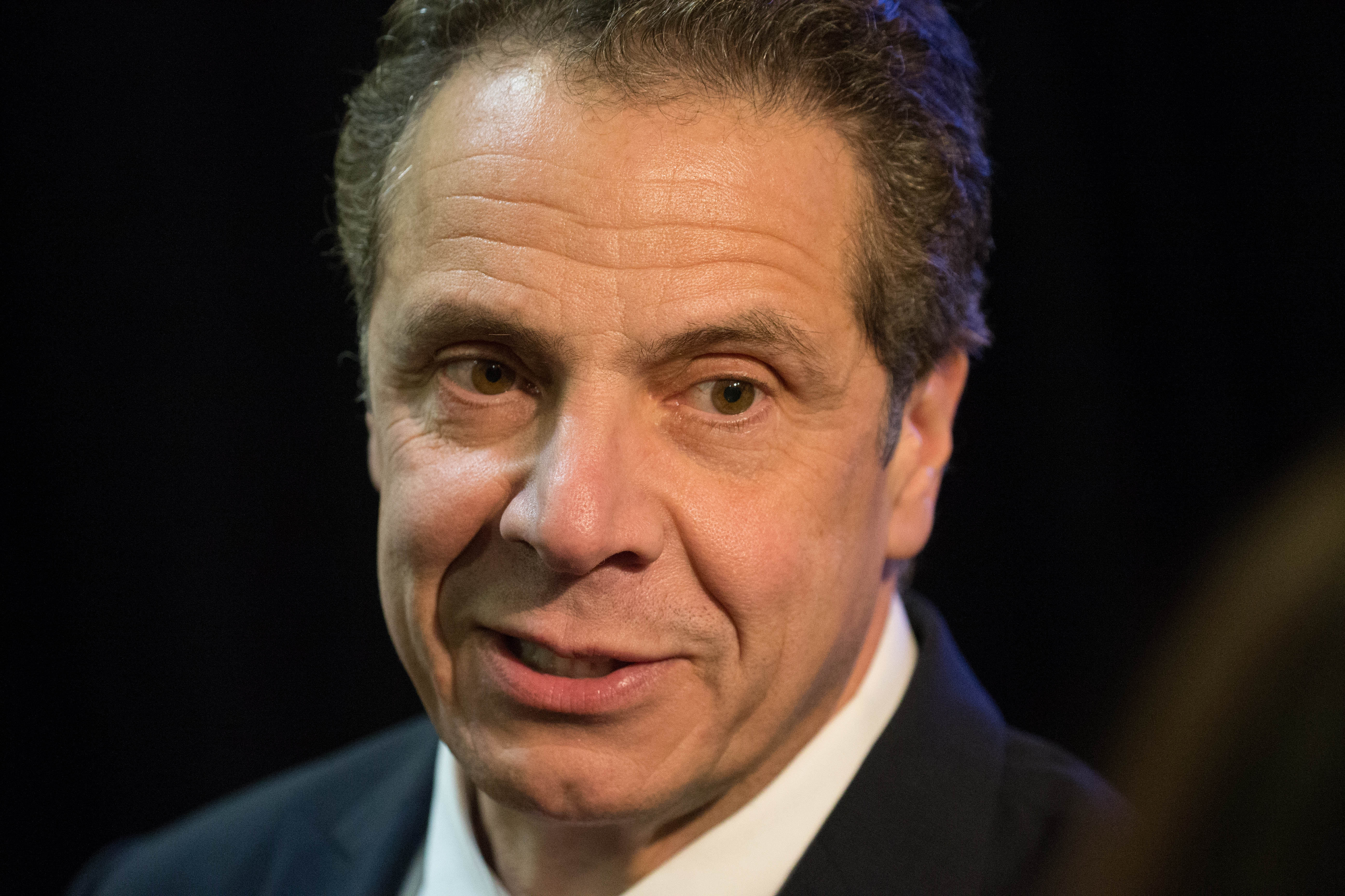 Gov. Cuomo announced a budget deal late Friday night.  (Derek Gee/Buffalo News)