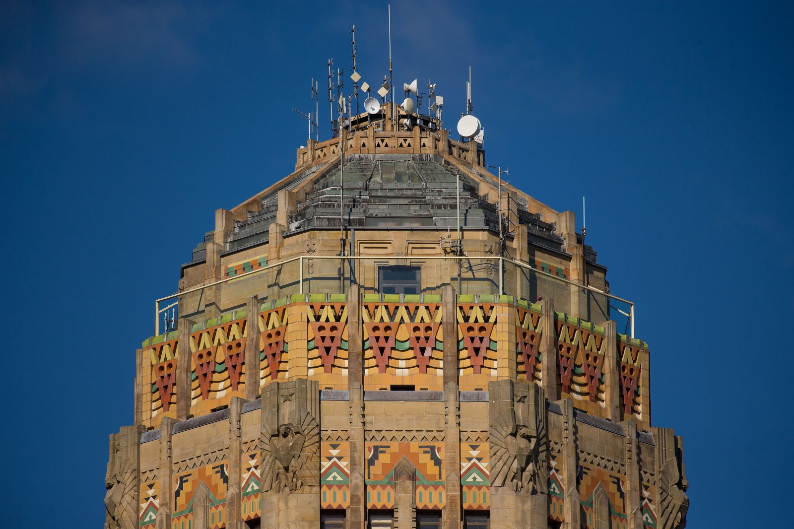 Art deco style architecture - The Intricate Terra Cotta Tile Pattern On The Dome Of Buffalo City Hall Represents The Art