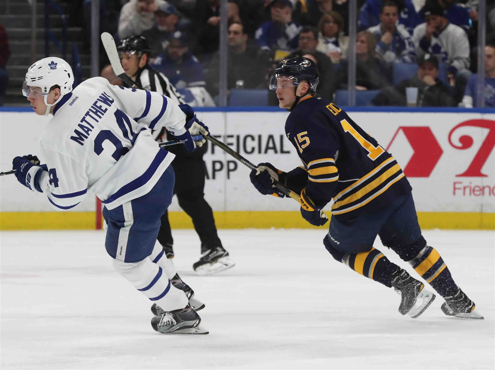 Jack Eichel on Buffalo: 'I've got nothing but great things to say about these fans.' (James P. McCoy/Buffalo News)
