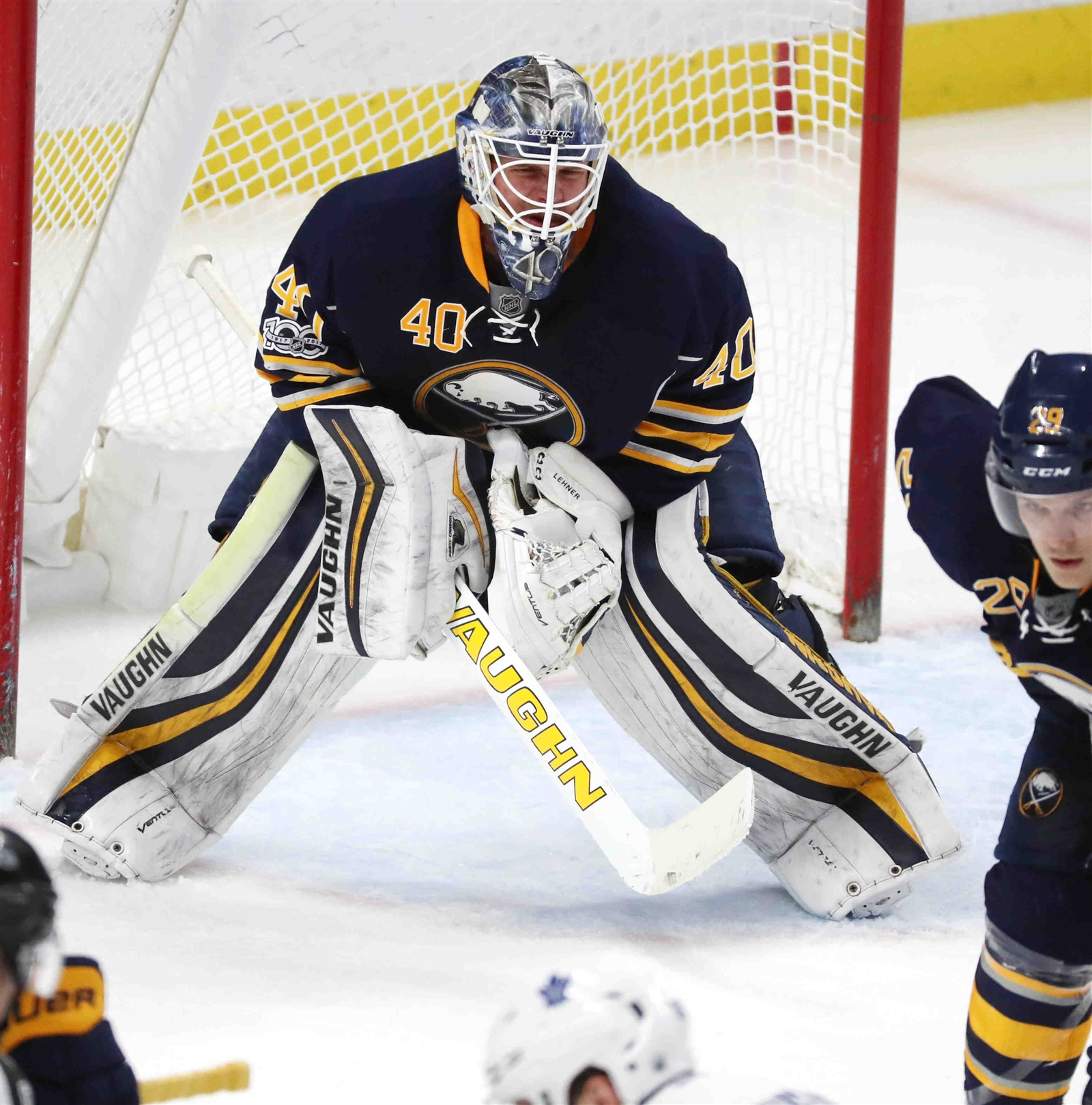 Robin Lehner says the Sabres have to get back to accountability on the ice. (James P. McCoy/Buffalo News)