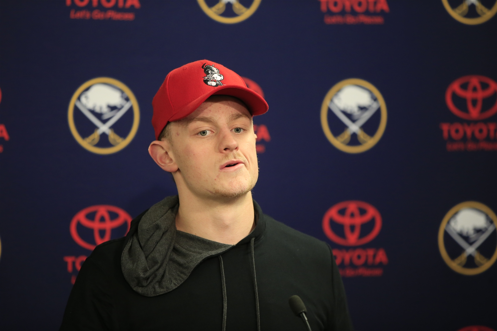 Jack Eichel's disdain for losing is well-documented. (Harry Scull Jr./Buffalo News)