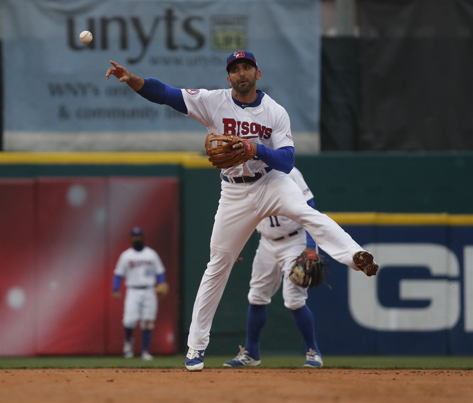 Jason Leblebijian's two-RBI double in the eighth gave the Bisons much-needed insurance. (Harry Scull Jr./Buffalo News File Photo)