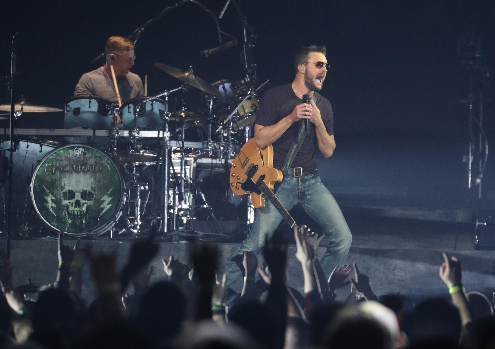 Eric Church performs at KeyBank Center. (Sharon Cantillon/Buffalo News)