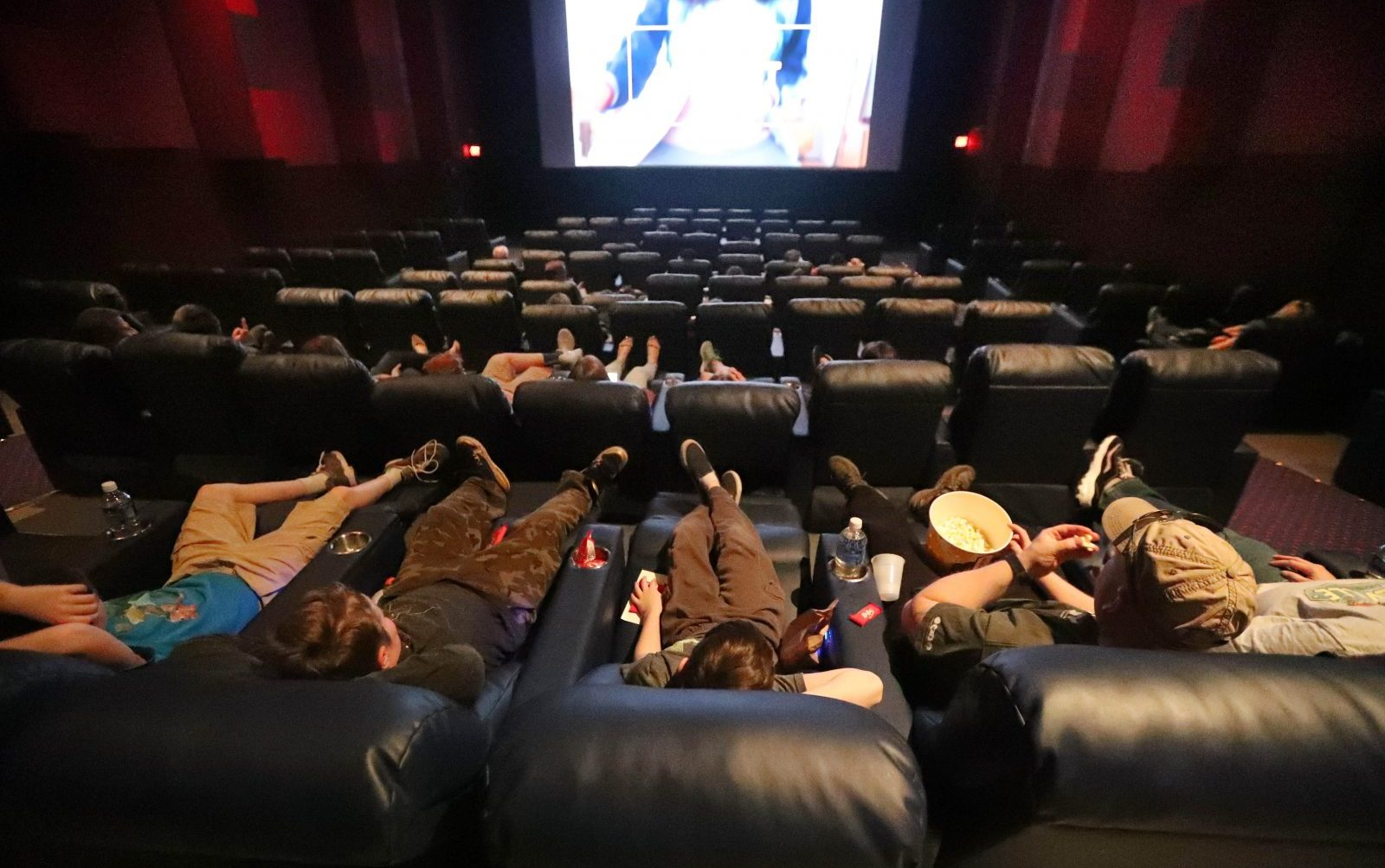 Dipson McKinley Mall has reduced price movie tickets, yet still offers plush recliner chairs.   (Sharon Cantillon/Buffalo News)