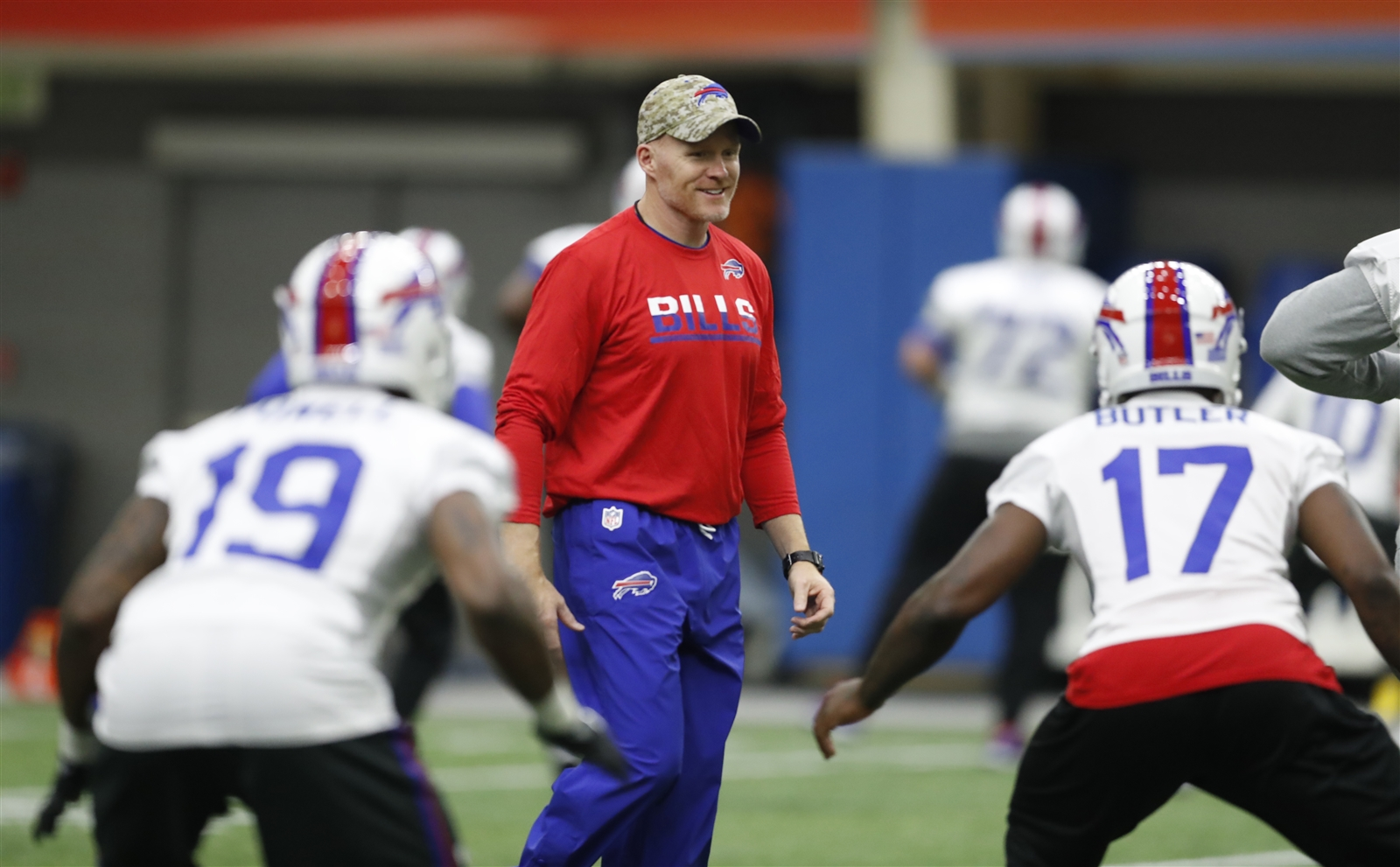 Bills coach Sean McDermott believes it's important to be close with his players. (Harry Scull Jr./Buffalo News)
