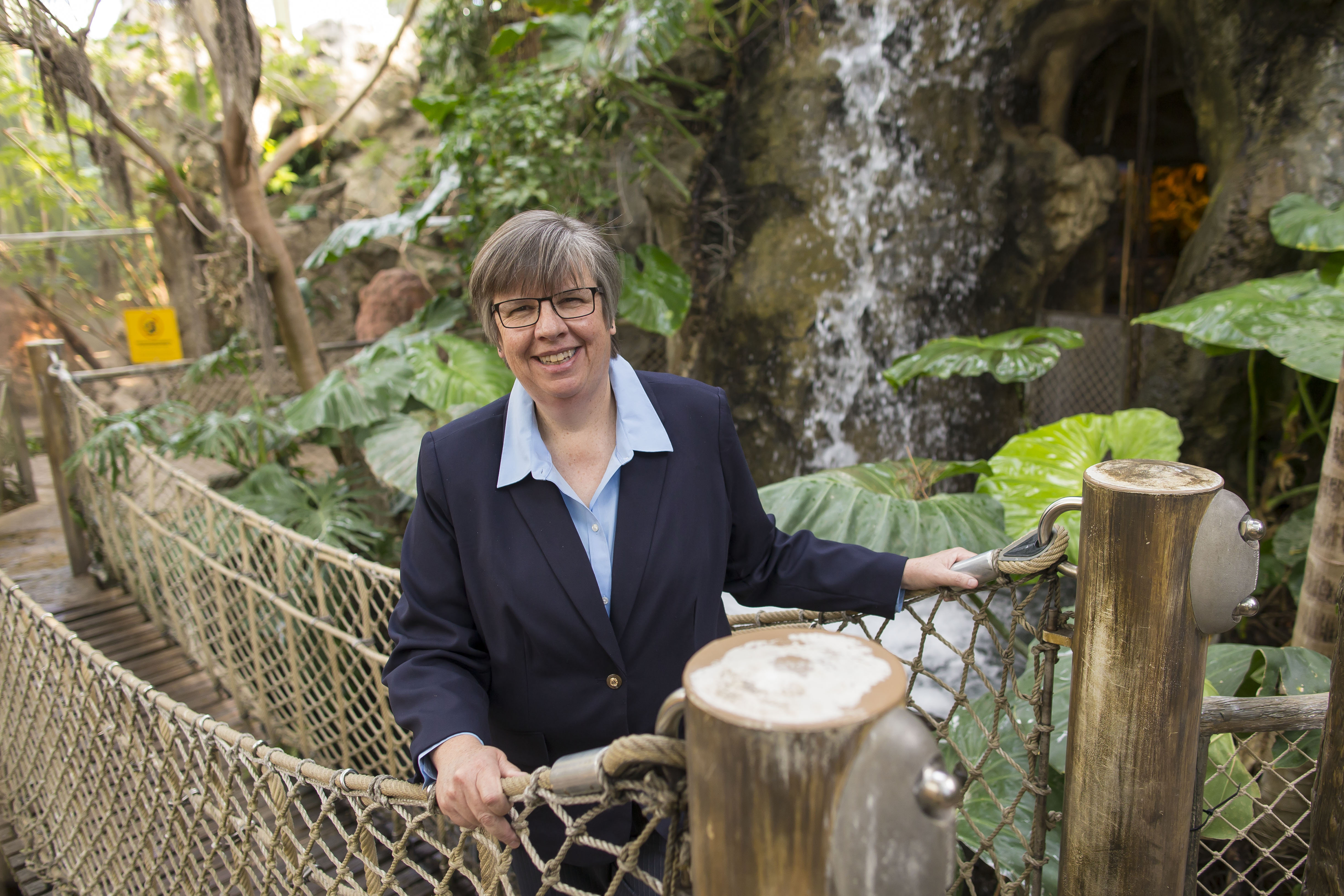 Norah B. Fletchall, currently the COO and senior vice president of the Indianapolis Zoological Society, has been announced as the new president and CEO of The Buffalo Zoo where she will begin May 22.  Photographed in the Rainforest Falls exhibit, Monday, April 24, 2017.  (Derek Gee/Buffalo News)