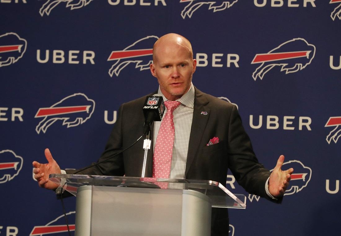 Buffalo Bills head coach Sean McDermott's first draft class is getting positive reviews. (James P. McCoy/Buffalo News)