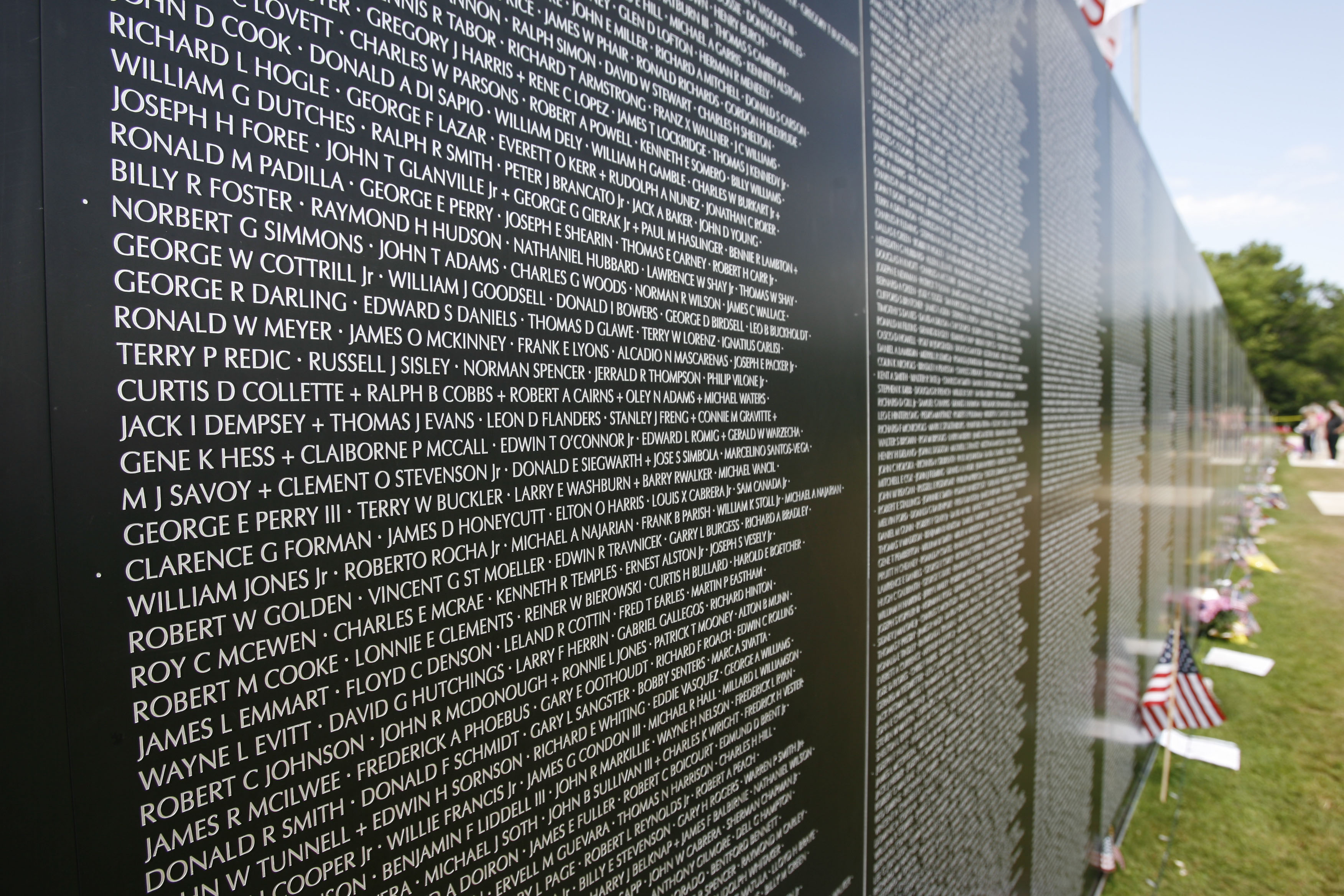 The traveling Vietnam Memorial Wall was on display at Knox Farm in East Aurora in 2009. (Sharon Cantillon/Buffalo News file photo)