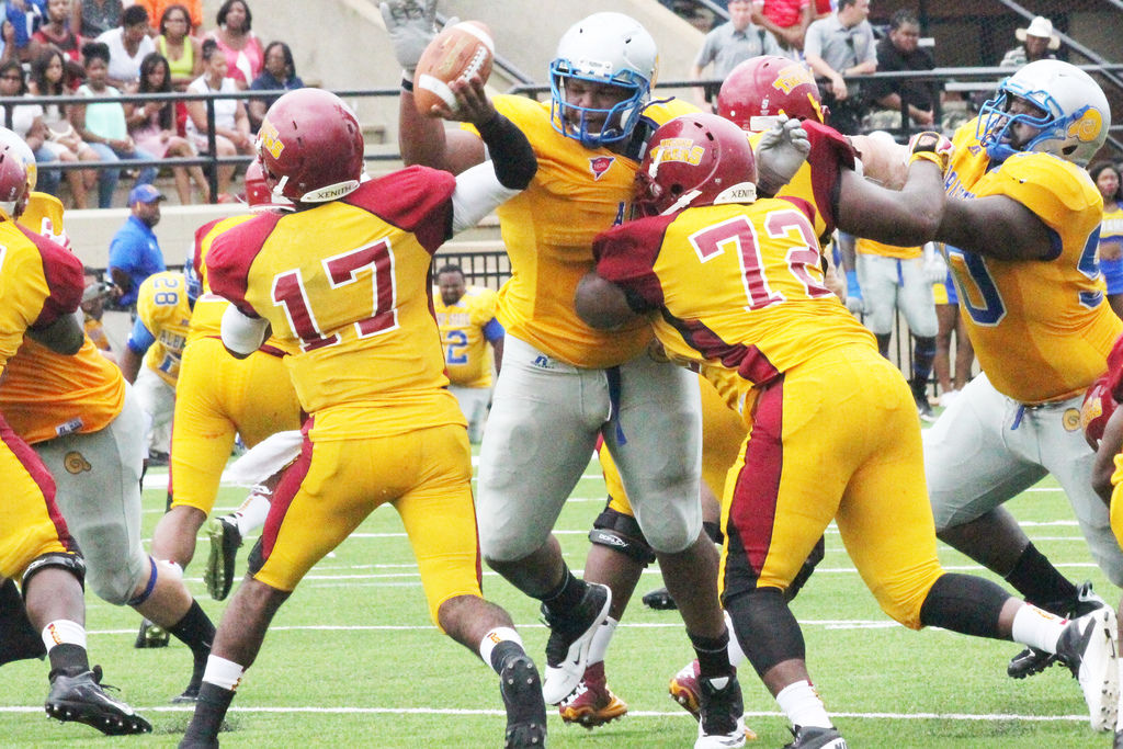 Albany State's Grover Stewart is an intriguing small-school draft prospect. (Photo courtesy Albany Herald)