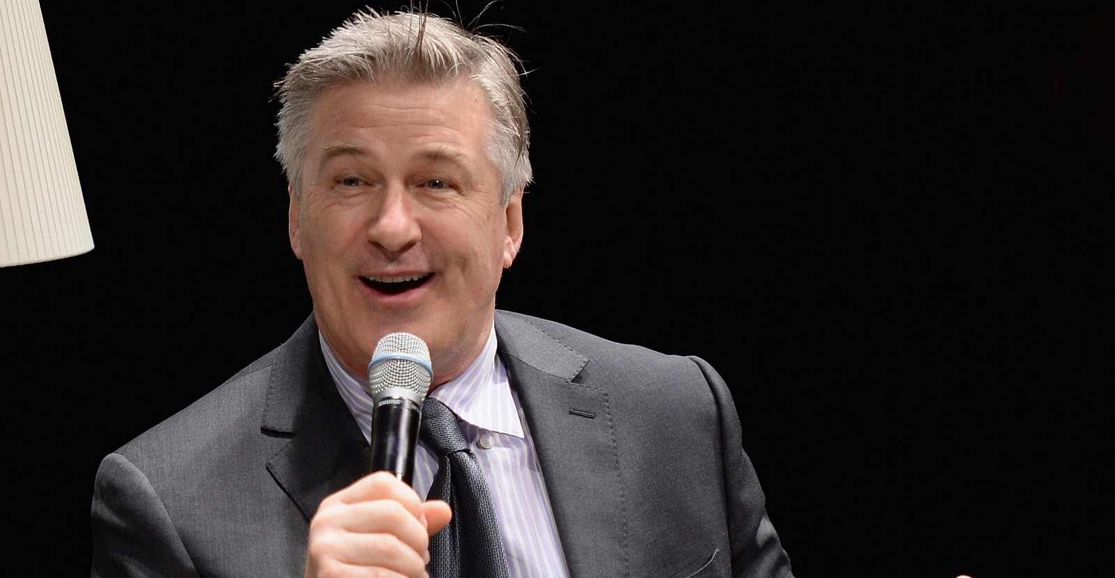 Alec Baldwin speaks at the Dacor Modernist Collection Launch at last month in New York City.  (Photo by Andrew Toth/Getty Images for Dacor)
