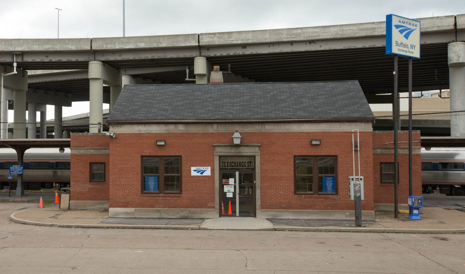 The tiny Amtrak Station on Exchange Street is finally about to be replaced. (Derek Gee/Buffalo News file photo)