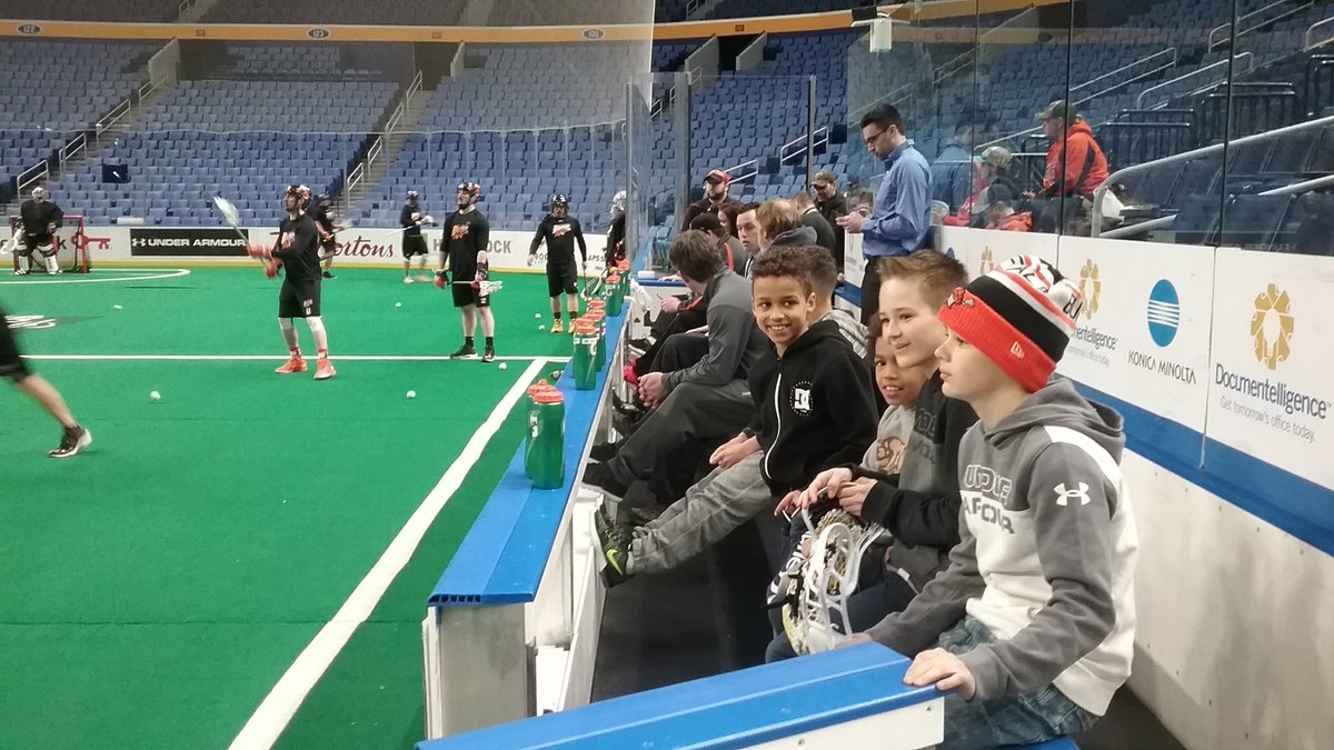 The Bandits' bench was crowded for Saturday morning's shootaround. Players often bring their children to the workout.