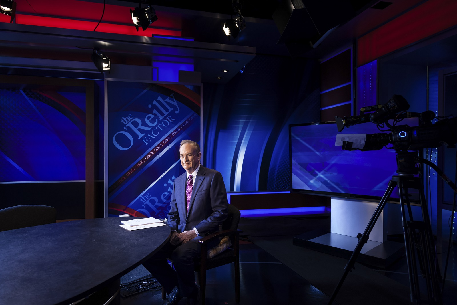Bill O'Reilly at his studio at Fox News in New York in 2012.  (Robert Wright/The New York Times)