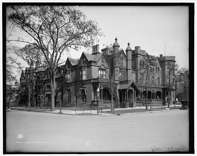 After it was home to a U.S. president, this house on Niagara Square became the Castle Inn. (Library of Congress Prints and Photographs Division Washington, D.C. 20540 USA)